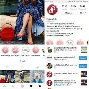 Handbags - Red Handbag featured on Poshmarks Insta account
